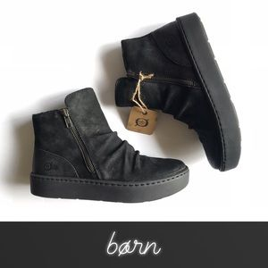 Born Scone Sneaker Distressed Suede Ankle Boot NIB
